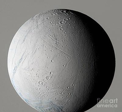 Photograph - Enceladus by NASA / Science Source