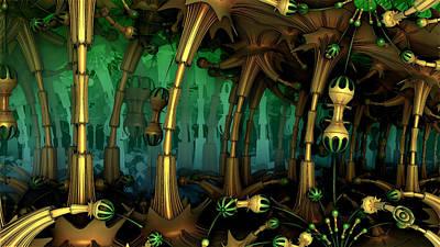 Enchanted Fantasy Forest Art Print