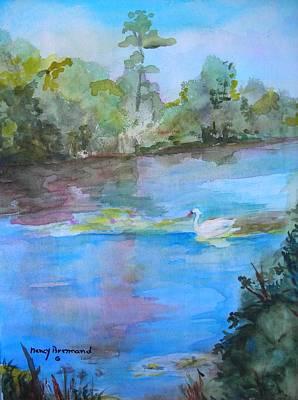 Enchanted Lake Art Print by Nancy Brennand