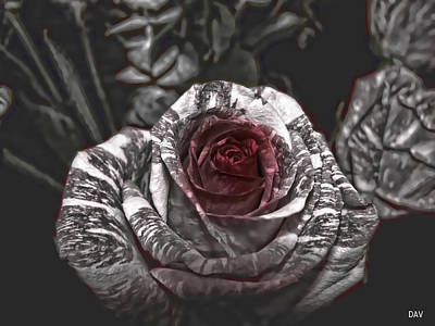 Mixed Media - Enchanted Roses by Debra     Vatalaro
