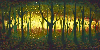 Mantel Painting - Enchanted by Sharon Marcella Marston