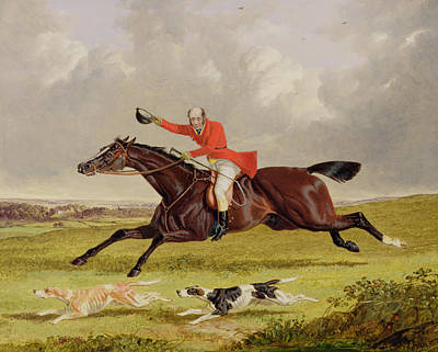 Crying Painting - Encouraging Hounds by John Frederick Herring Snr