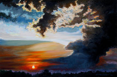 Painting - End Of Another Day by John Lautermilch