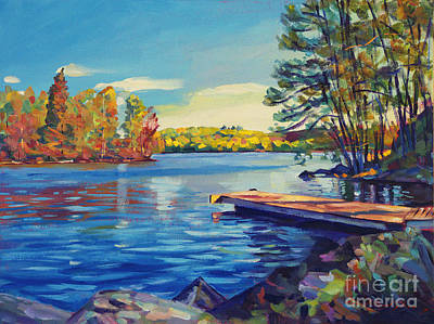 Lakeshore Painting - End Of Summer by David Lloyd Glover
