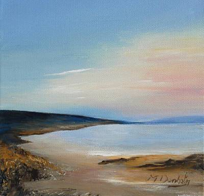 Amber Desert Painting - End Of The Day by Margaret Denholm