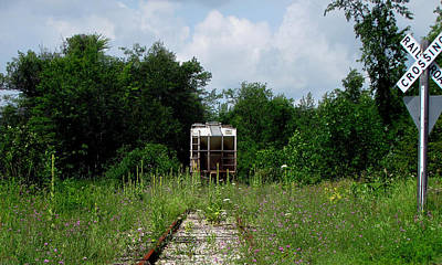 Photograph - End Of The Line Train Tracks by Ms Judi