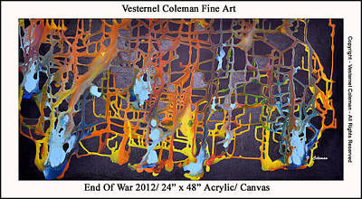 Doomed Love Painting - End Of War by Vesternel Coleman
