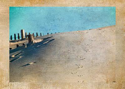 Aqua Photograph - Endless Footprints by Trish Tritz