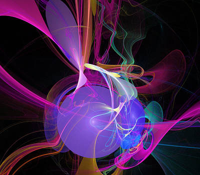 Digital Art - Energetic Orb by Ricky Barnard