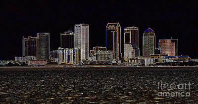Energized Tampa - Digital Art Print by Carol Groenen