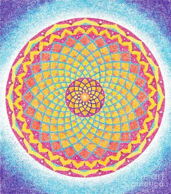 Sand Mandala Painting - Energy by Nobuaki Suzuki