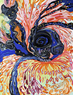 Painting - Energy Swirls by Shoshanah Dubiner