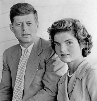 1950s Fashion Photograph - Engagement Portrait Of John Kennedy by Everett