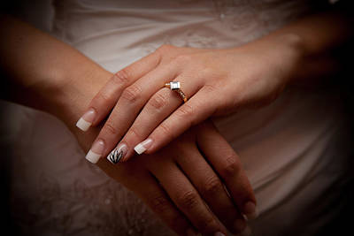 Photograph - Engagement Ring by Carole Hinding