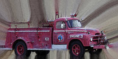 Photograph - Engine 3 by Ernie Echols
