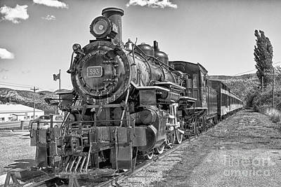 Art Print featuring the photograph Engine 593 by Eunice Gibb