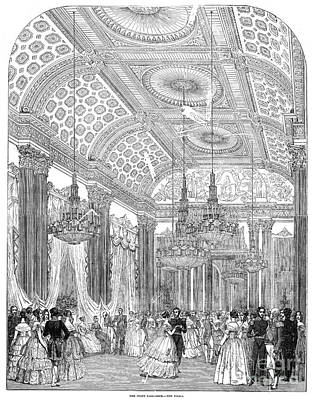Ball Gown Drawing - England - Royal Ball 1848 by Granger