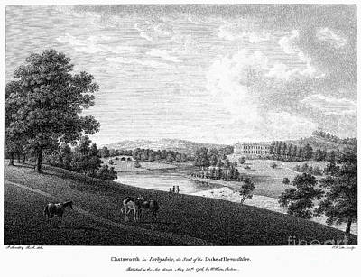England: Chatsworth, 1786 Art Print