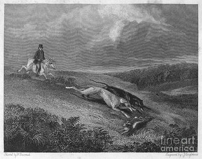 1833 Photograph - England: Coursing, 1833 by Granger