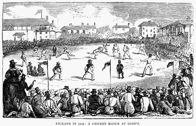 Photograph - England: Cricket, 1842 by Granger