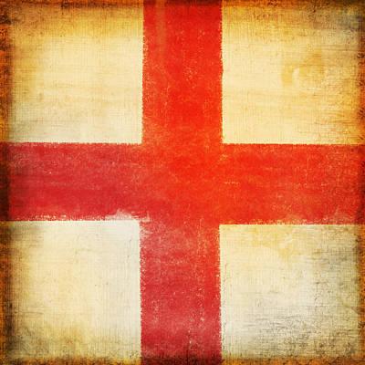 Football Royalty-Free and Rights-Managed Images - England flag by Setsiri Silapasuwanchai