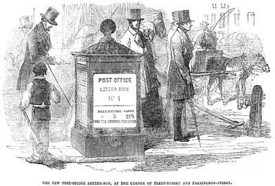 England: Mailbox, 1855 Art Print