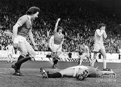 England: Soccer Game, 1977 Art Print by Granger