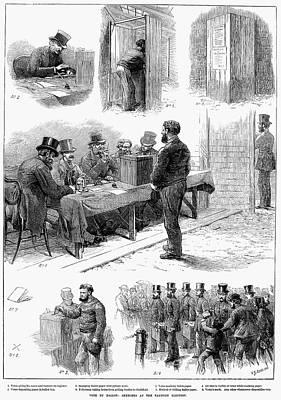 Ballot Wall Art - Photograph - England: Voting, 1873 by Granger