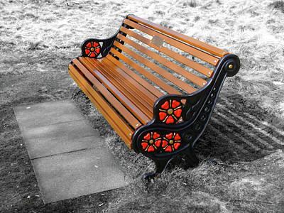 English Bench Art Print by Roberto Alamino