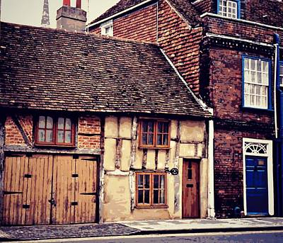 Photograph - English Buildings - Textured by Marilyn Wilson