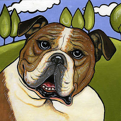 English Bull Dog Painting - English Bull Dog by Leanne Wilkes