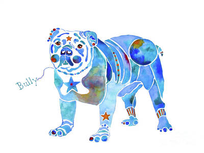 Painting - English Bulldog Bully by Jo Lynch