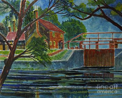 English Canal Lock Art Print by Donald McGibbon