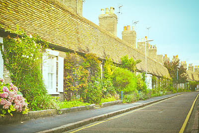 English Cottages Art Print by Tom Gowanlock