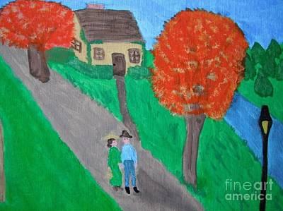 English Countryside Original by Jeannie Atwater Jordan Allen