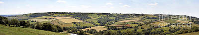 Pasture Scenes Photograph - English Countryside Panorama by Jane Rix