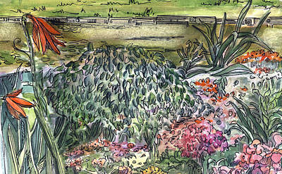 Daisy Drawing - English Garden by Mindy Newman