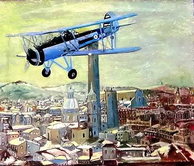 Reconnaissance Painting - English Recoinessance Over Bologna - Italy  by Roberto Lacentra