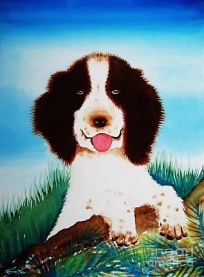 Painting - English Springer Spaniel by Frances Ku