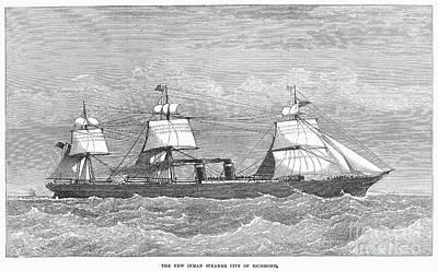 Photograph - English Steamship, 1874 by Granger