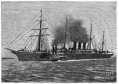 Photograph - English Steamship, 1881 by Granger