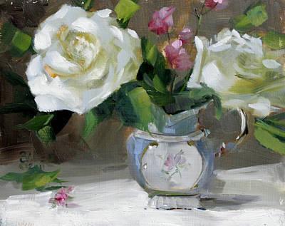 English Tea Rose Art Print by Chris  Saper