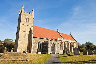 Grave Photograph - English Village Church by Tom Gowanlock