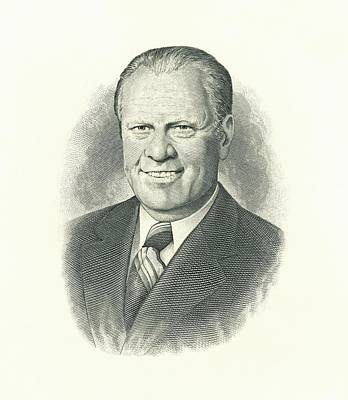 Engraving Of President Gerald Ford Photograph By Everett