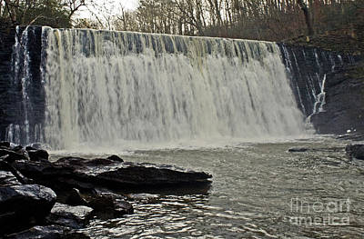 Photograph - Enhanced Raging Waterfall by Michael Waters