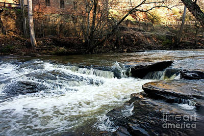 Photograph - Enhanced River Mill 2 by Michael Waters
