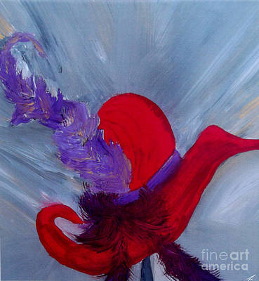 Art Print featuring the painting Ensemble Chapeau Rouge by Ayasha Loya