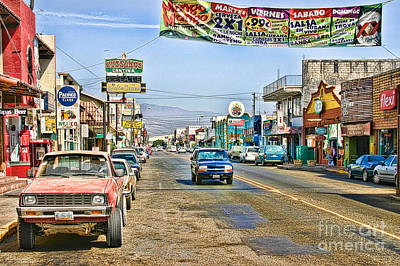 Art Print featuring the photograph Ensenada Street Scene by Lawrence Burry