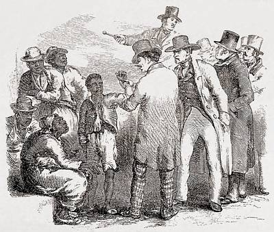 Enslaved African American Sold At An Art Print by Everett