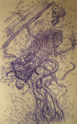 Drawing - Entangled by Ralph Nixon Jr
